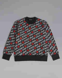 Czarna bluza z nadrukiem 12 lat
