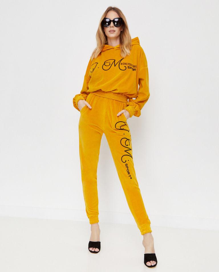 Aksamitne spodnie z logo Joanna Muzyk