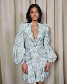 Niebieska sukienka mini Dixon