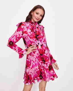 Sukienka mini z jedwabiu