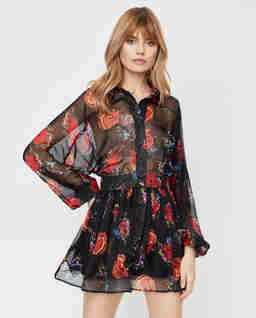 Czarna sukienka w serca Amelia Love