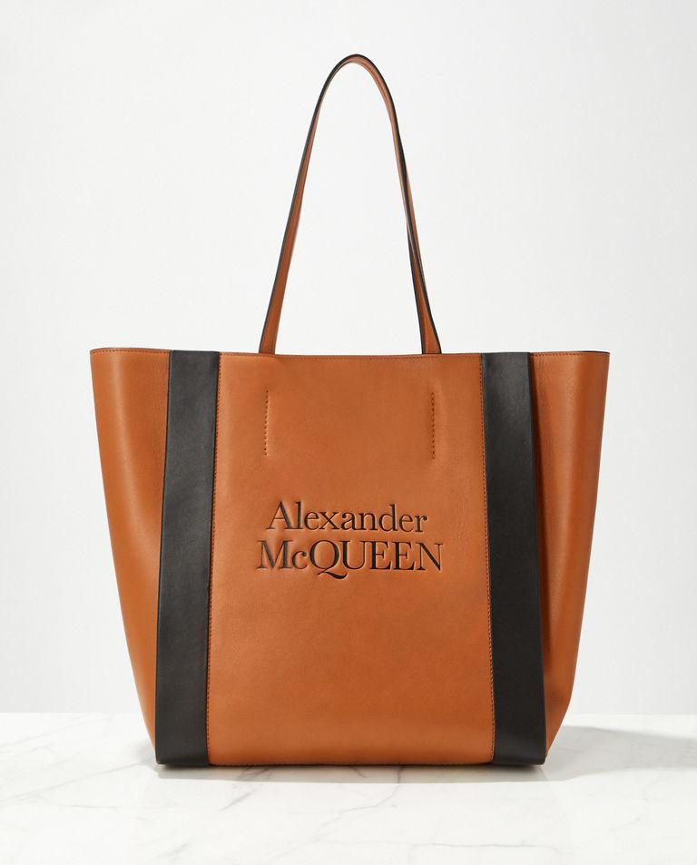 Skórzana torebka shopper Alexander McQueen