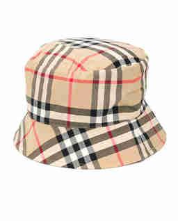 Bawełniany kapelusz w kratę 0-2 lat