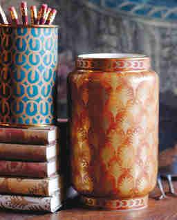 Brązowy wazon Fortuny