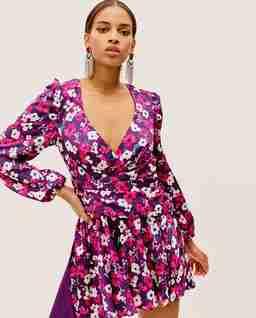 Fioletowa sukienka Hallie