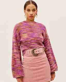 Różowy sweter Kara