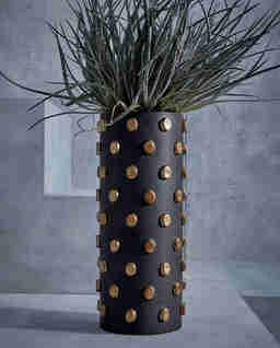 Czarny wazon Teo Large