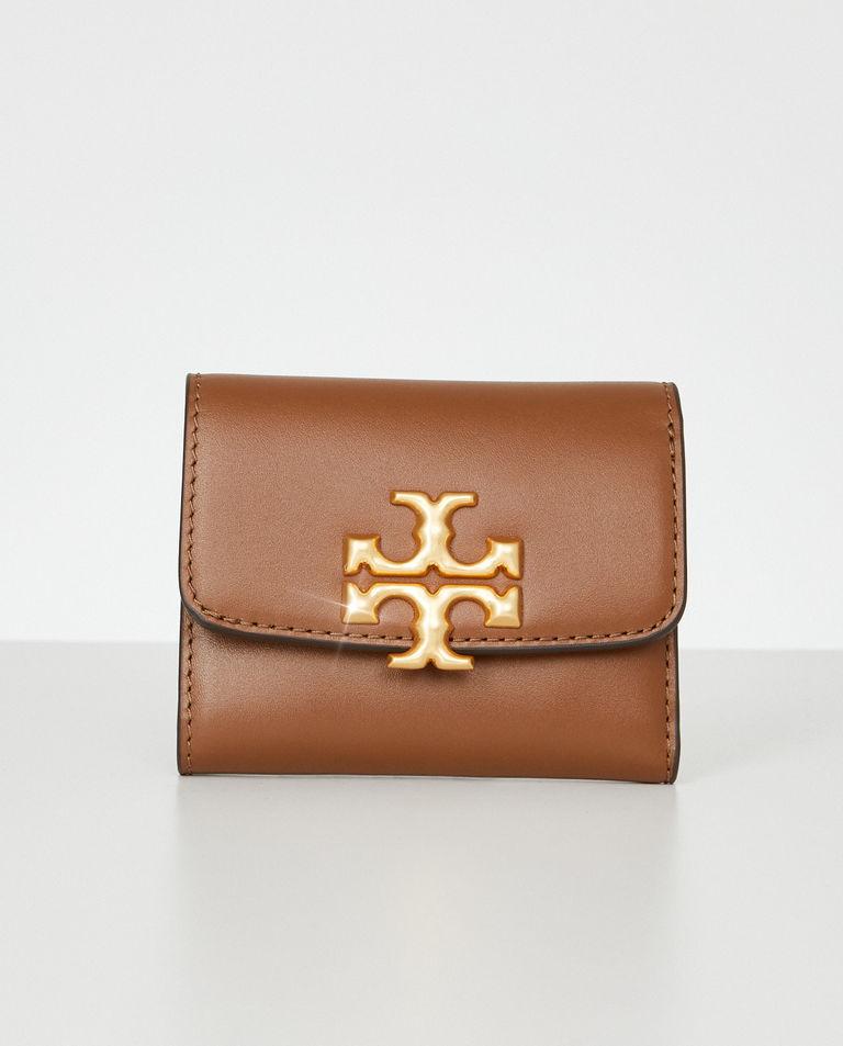 Brązowy portfel Eleanor Mini Tory Burch