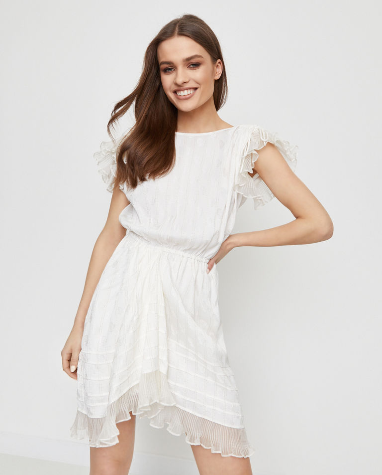 Sukienka z jedwabiem Marisa Isabel Marant