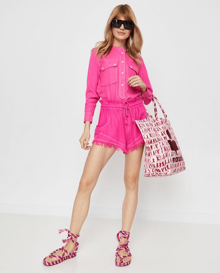 Różowa bluzka Tecoyo Isabel Marant