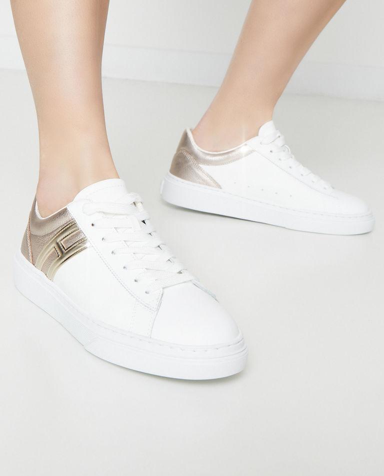 Biało-złote sneakersy H365 Hogan