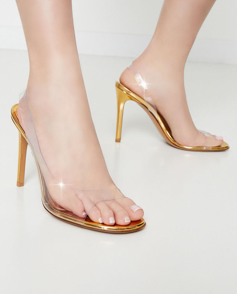Złote sandały Amber Ghost Alexandre Vauthier