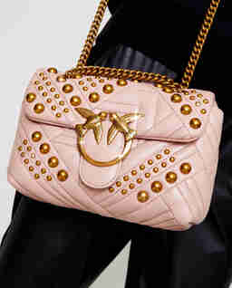 Skórzana torebka Mini Love Bag Puff