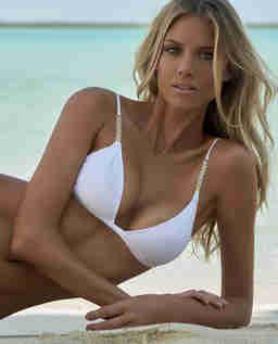 Biały top od bikini Maldives