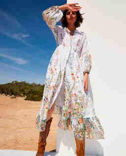 Sukienka w kwiaty maxi Jeanette