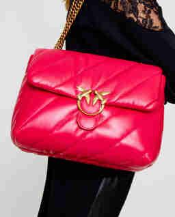 Różowa torebka Big Puff Maxi