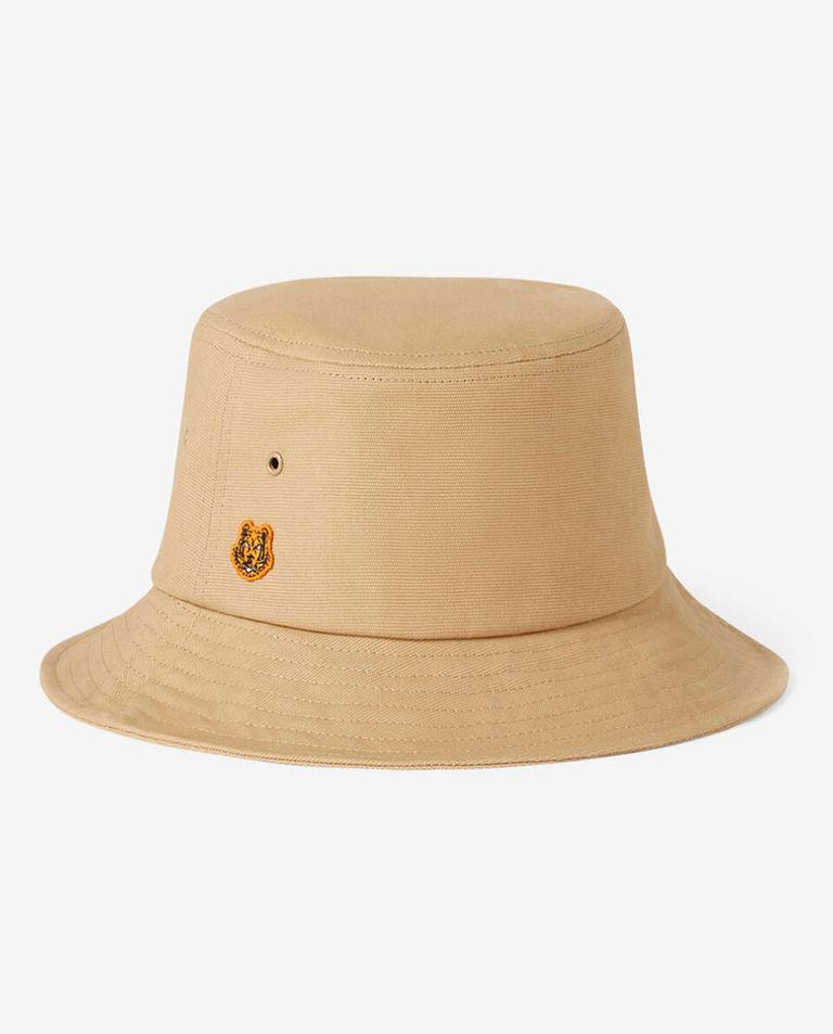 Beżowy kapelusz z bawełny Tiger Crest Kenzo