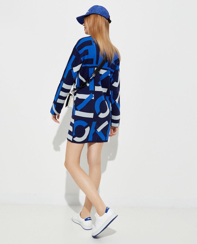 Żakardowa sukienka z monogramem Kenzo