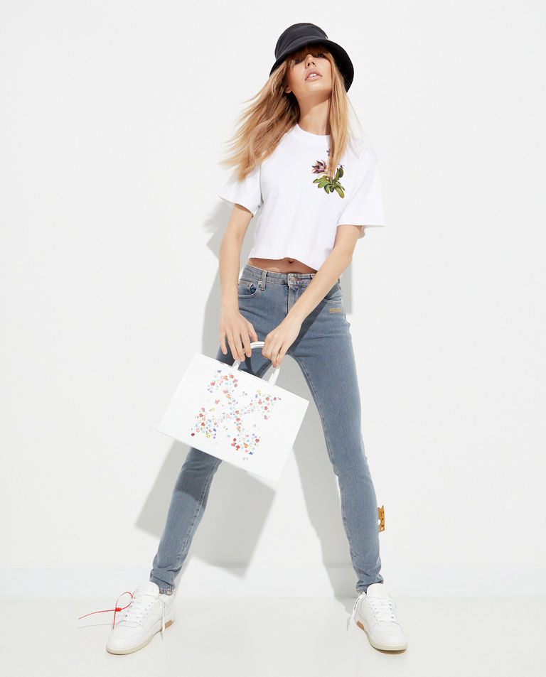 Biała torba shopper ze strzałami Off-White
