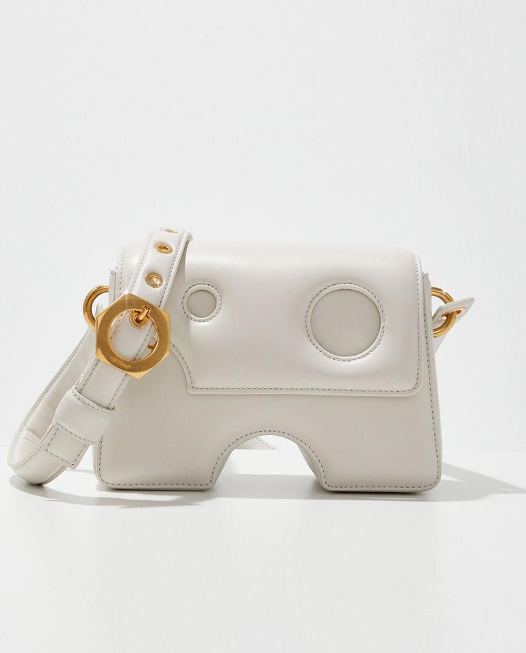 Skórzana torebka Burrow-22 off-White