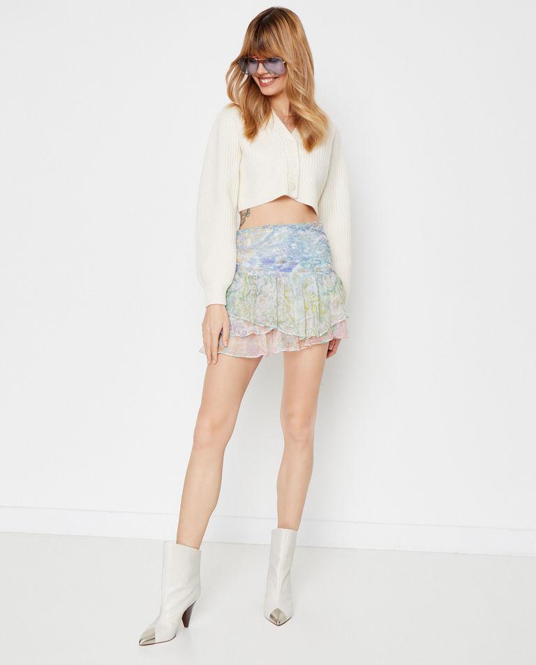 Wzorzysta spódnica mini Love Shack Fancy
