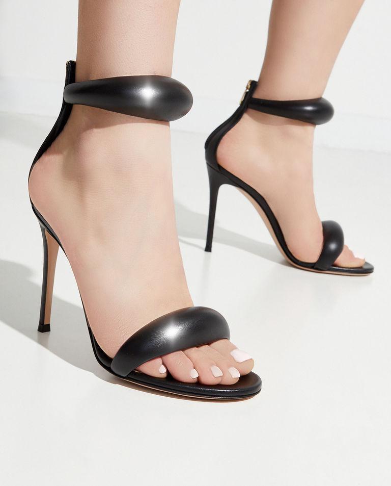 Czarne sandały na szpilce Bijoux Gianvito Rossi