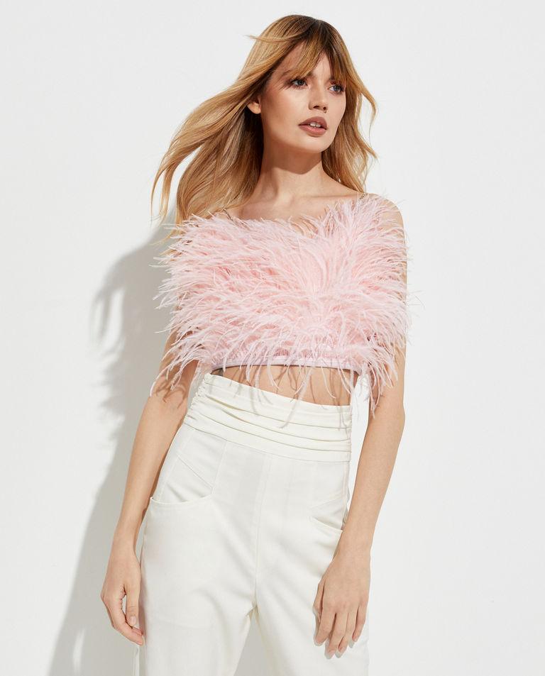 Różowy top Feather Splash T-Dress