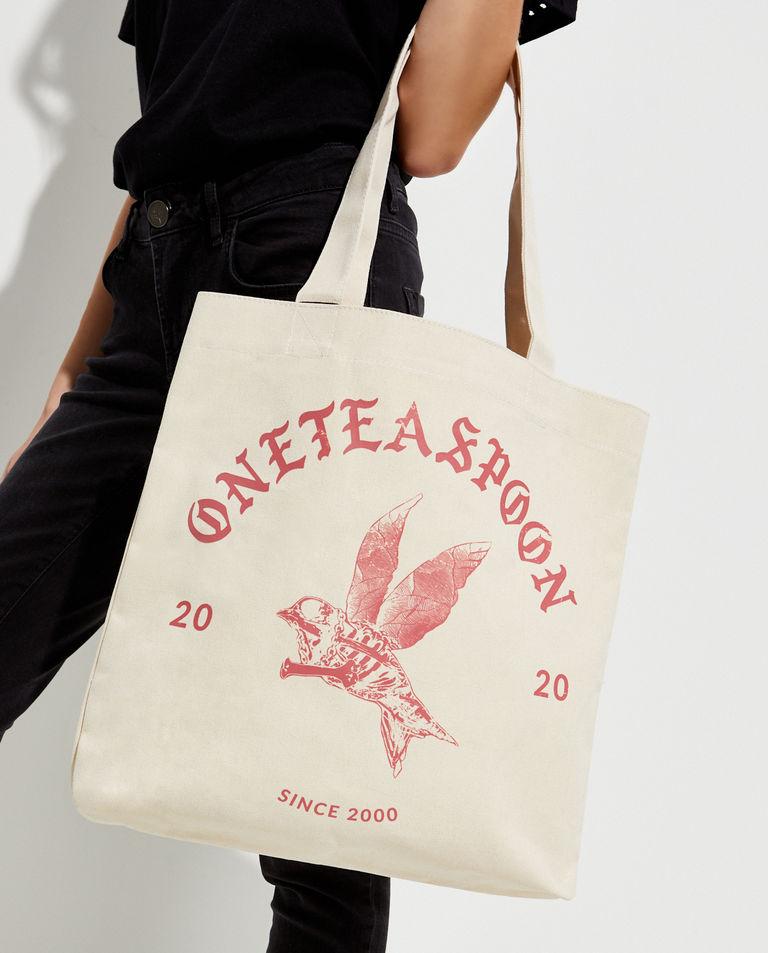 EDYCJA LIMITOWNA Oneteaspoon X Moliera 2 - Bawełniana shopperka z logo