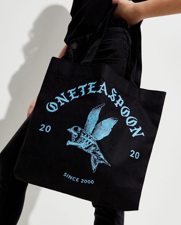 EDYCJA LIMITOWNA Oneteaspoon X Moliera 2 - Czarna torba shopper z logo