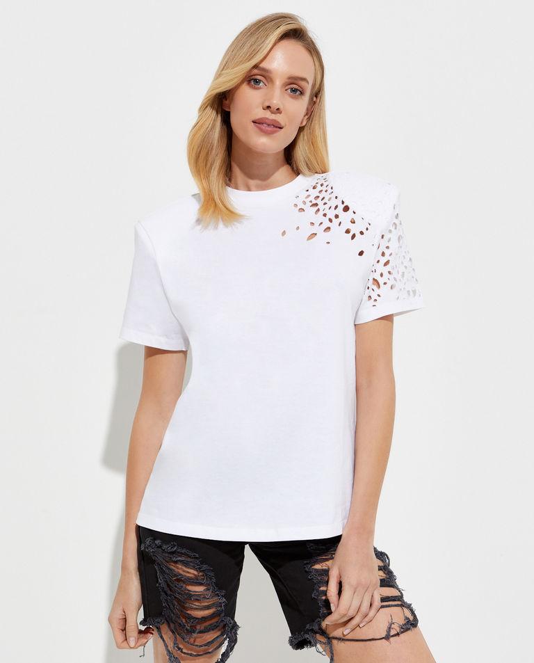 Biały t-shirt Caroline SER.O.YA