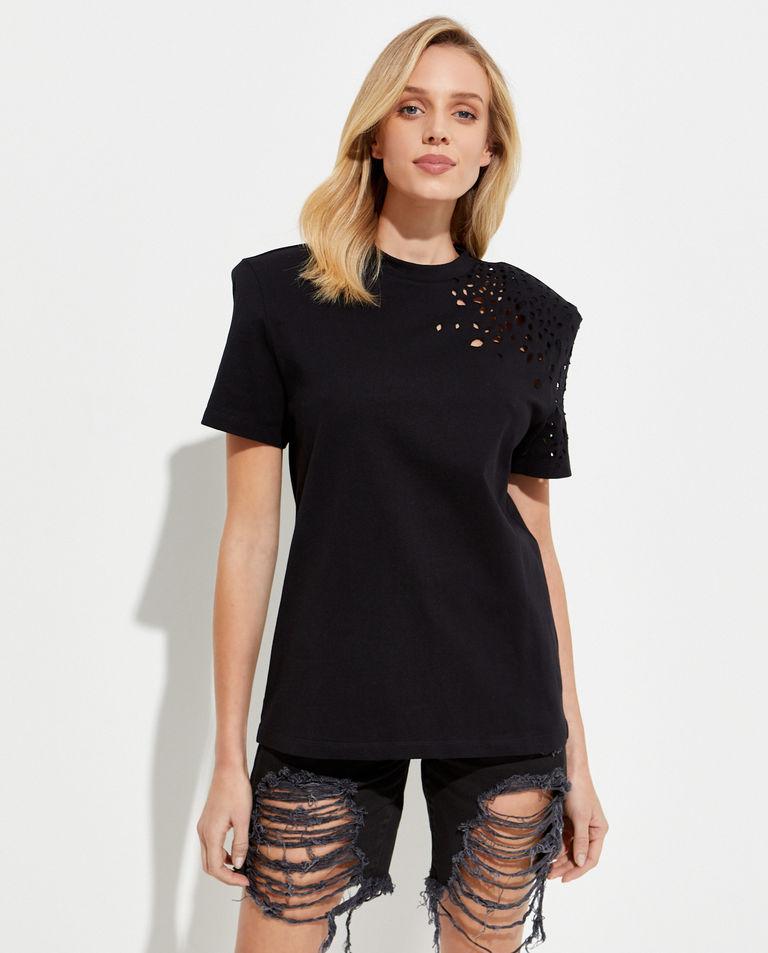 Czarny t-shirt SER.O.YA