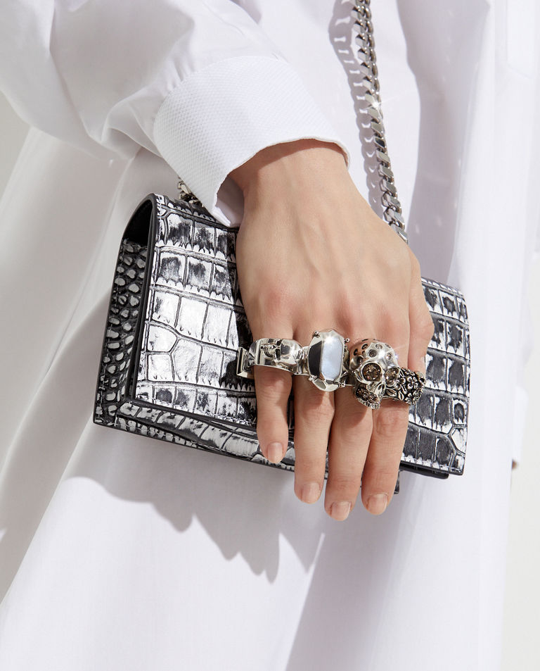 Torebka mini z pierścieniami Alexander McQueen
