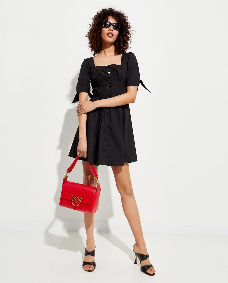 Czerwona torebka ze skóry Love Shoulder Bag Simply Pinko