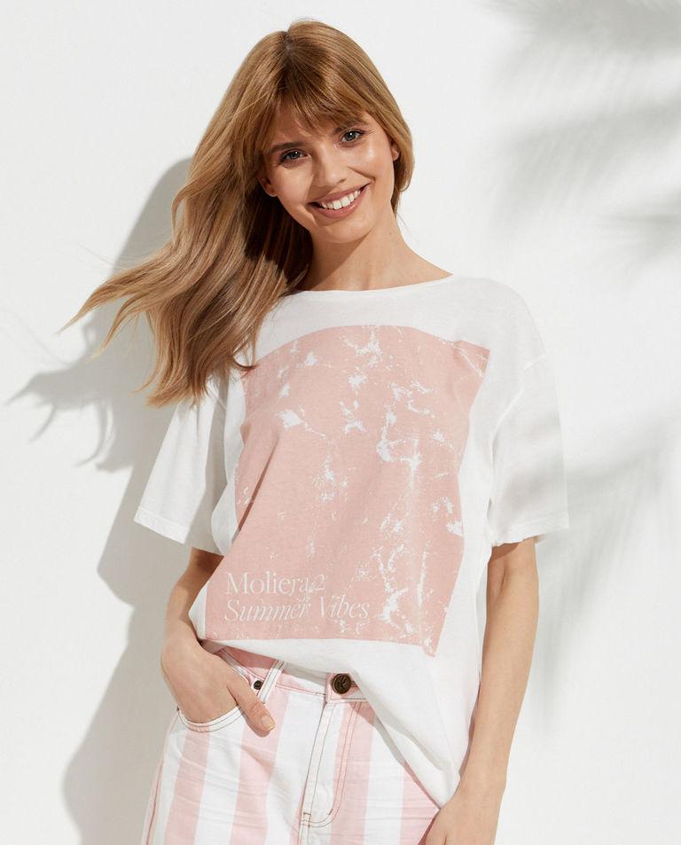 EDYCJA LIMITOWANA Oneteaspoon X Moliera 2 - Biały t-shirt z logo