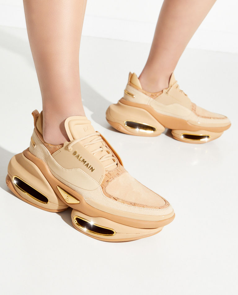 Beżowe sneakersy BBold Balmain