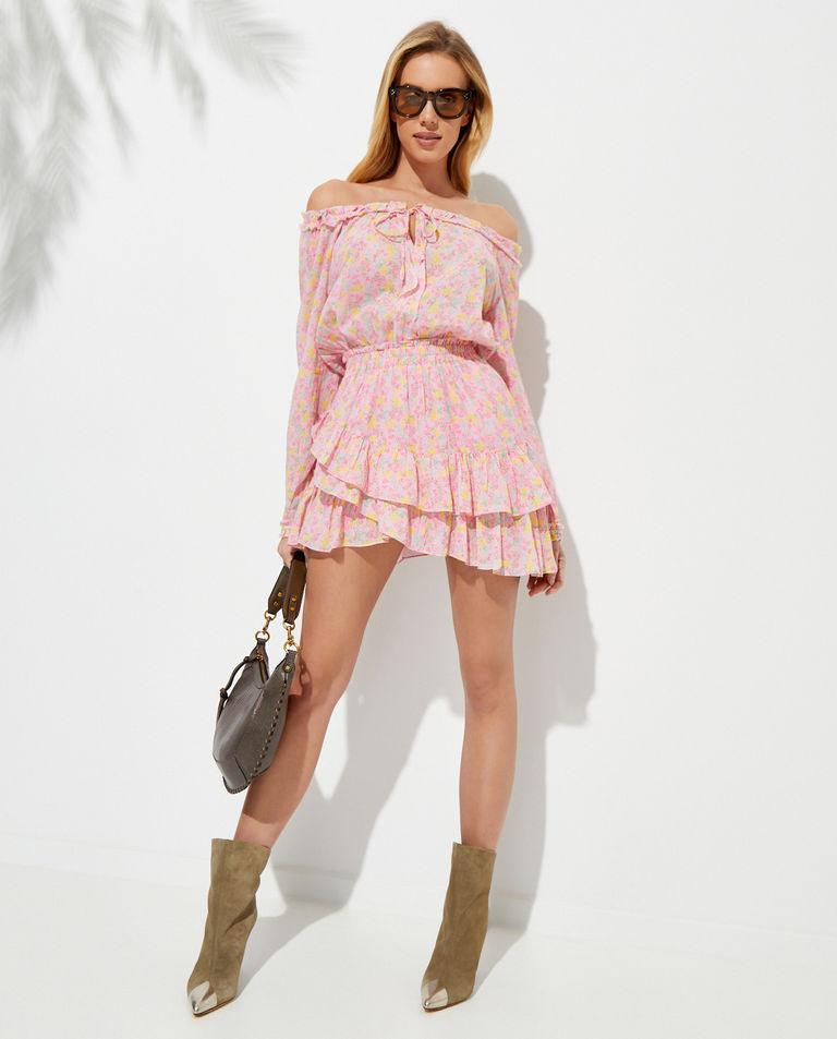 Wzorzysta sukienka z bawełny Rayna LoveShackFancy