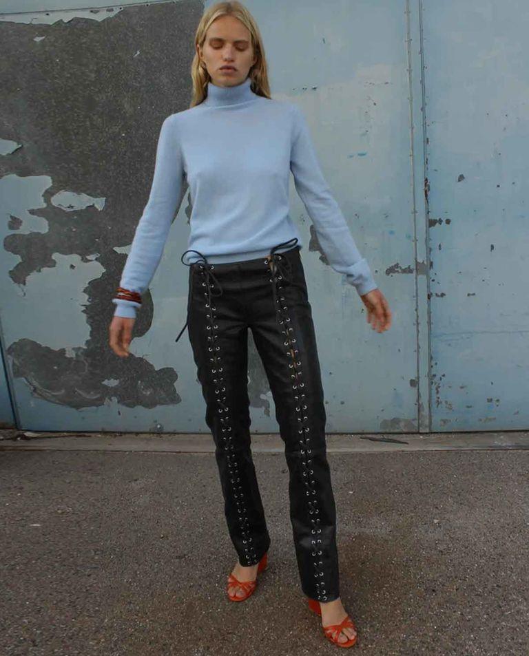 Skórzane spodnie Christina Saks Potts