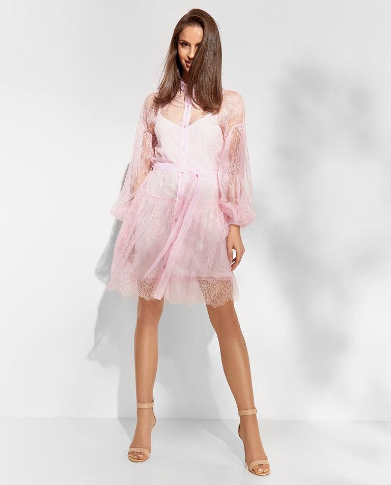 Różowa koronkowa sukienka Ermanno Firenze