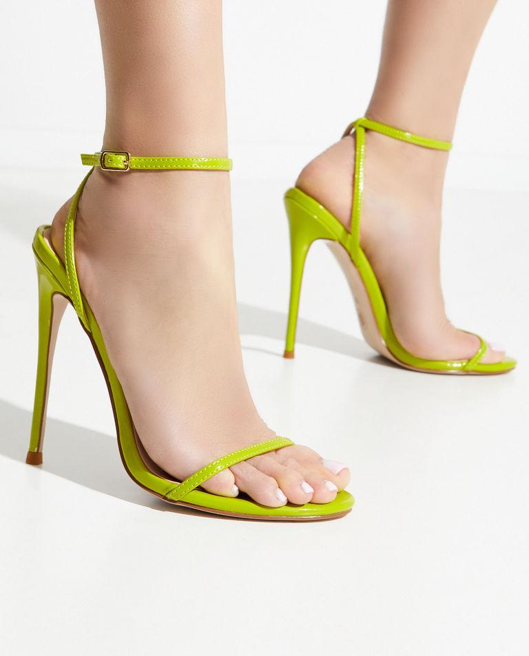 Limonkowe sandały The Necessary FEMME Los Angeles