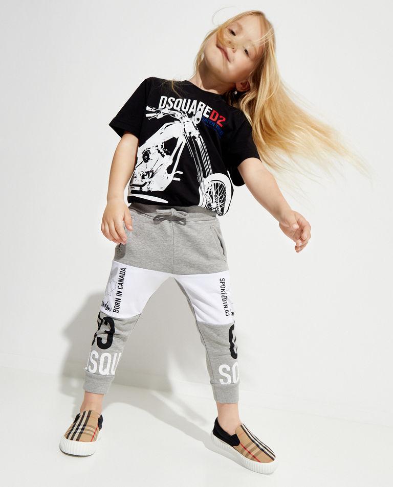 Szare spodnie z nadrukiem 4-16 lat Dsquared2 Kids