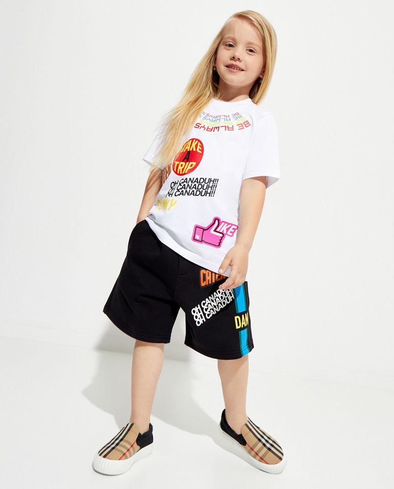 Biała koszulka z kolorowymi nadrukami 4-12 lat Dsquared2 Kids