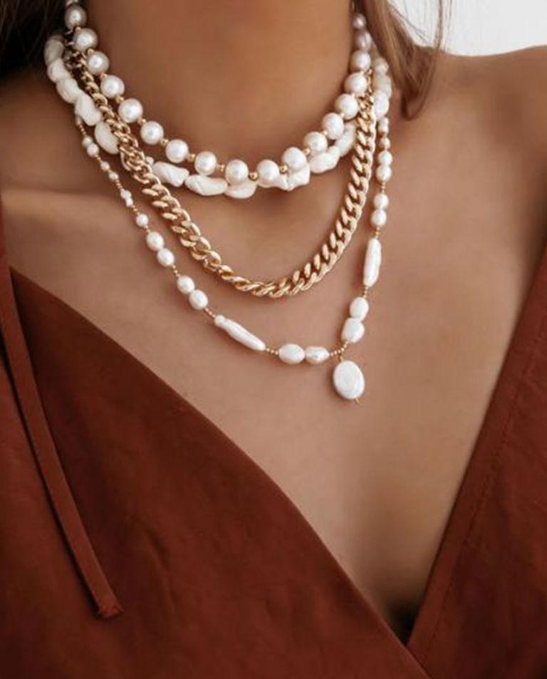 Naszyjnik z naturalnych pereł Sorrento Selfie Jewellery