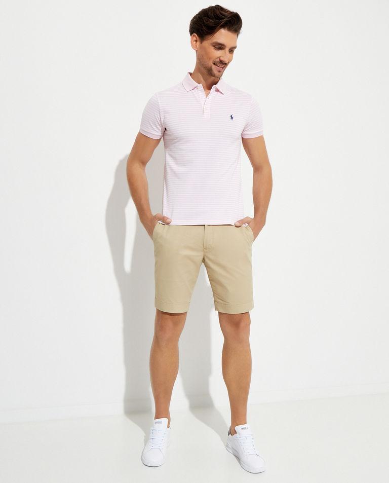 Różowa koszulka w paski Slim Fit Polo Ralph Lauren