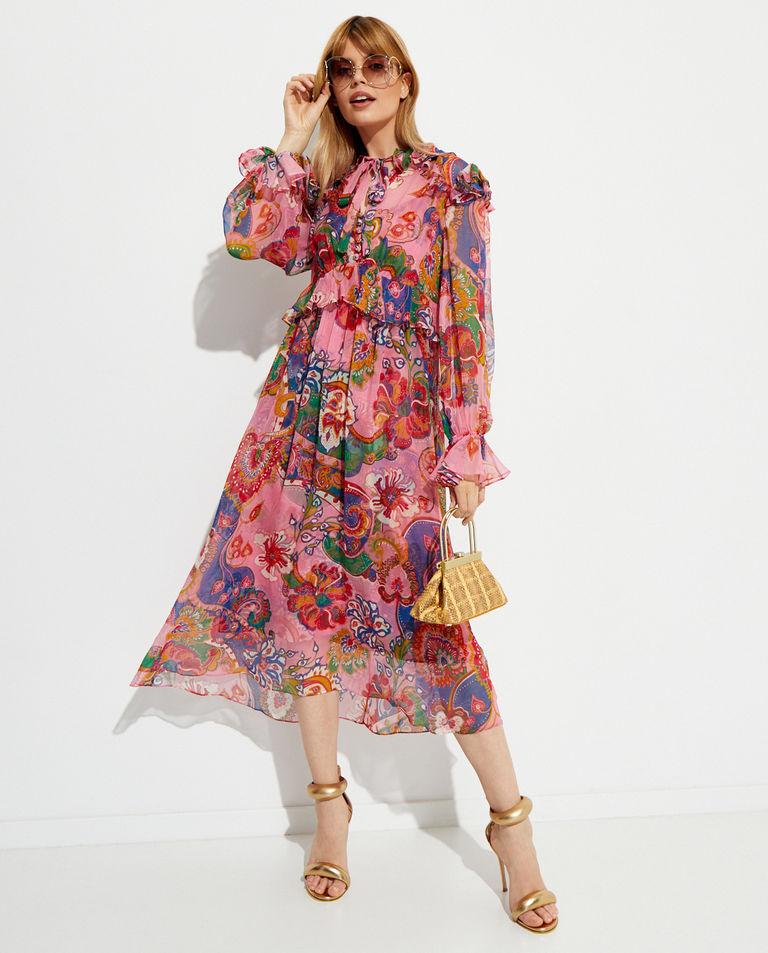 Szyfonowa sukienka midi Zimmermann