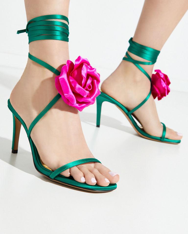 Zielone sandały Laurel Alexandre Vauthier