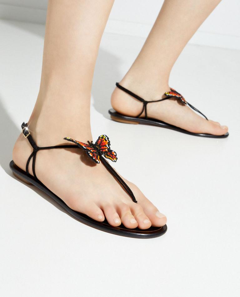 Lekkie sandały ze skóry Butterfly Aquazzura