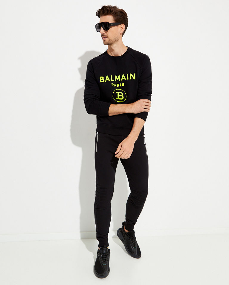 Bluza z neonowym logo Balmain