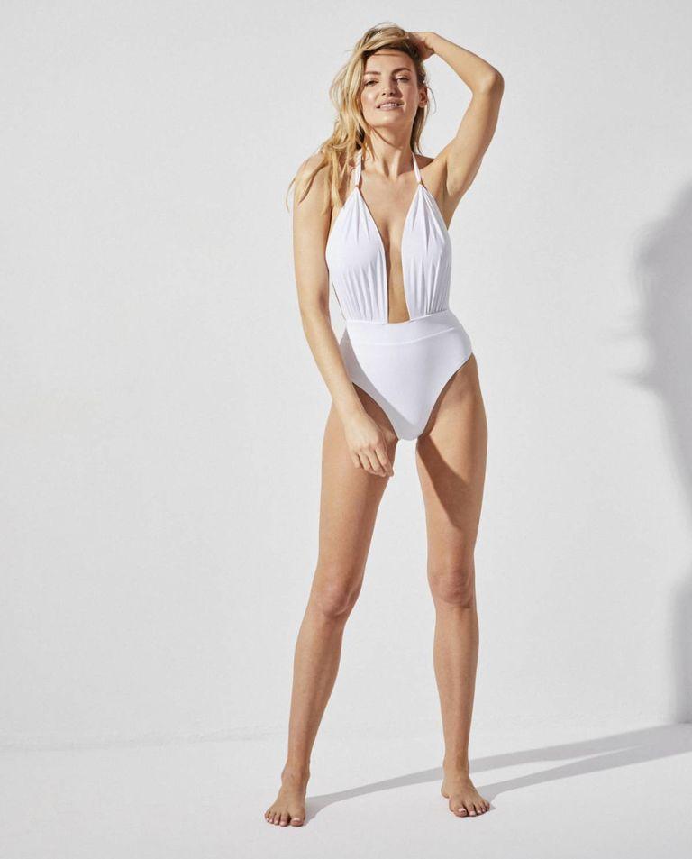 Biały jednoczęściowy kostium kąpielowy Praia Beachwear