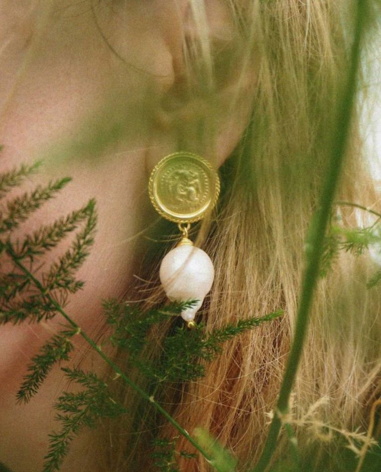 Kolczyki z naturalną perłą Hercules Lost Sea Hermina Athens