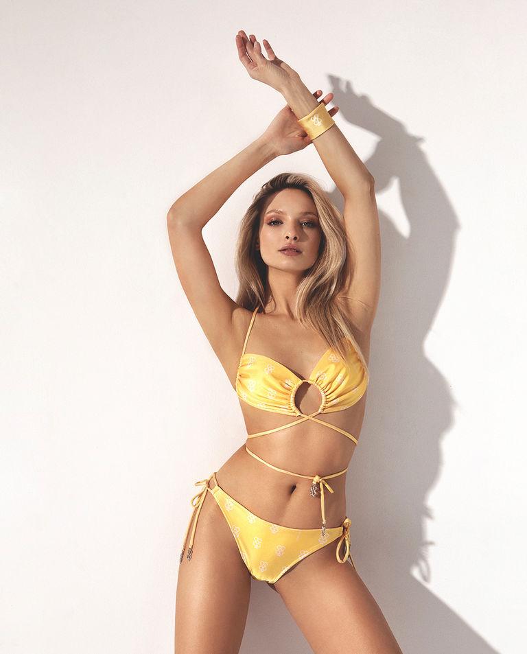 Żółta góra od bikini TAN Cuori e Picche